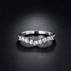 Jewelry - 18kt White Gold Band Ring